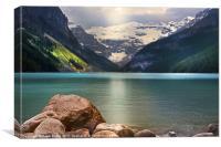 Rockey Mountain Lake, Canvas Print