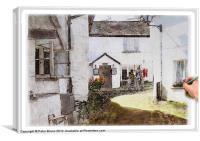 Hawkshead Cottages Painting