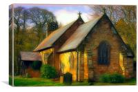St Michael and all Angels Church, fractalious, Canvas Print