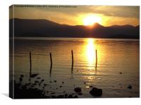 sunset at loch lomond, Canvas Print