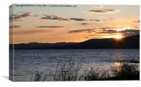 Sunset in North Ayrshire, Canvas Print