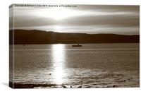 Sunset in Fairlie 1, Canvas Print