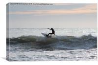 Surfer at Croyde Bay