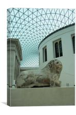The British Museum and the Knidos Lion., Canvas Print