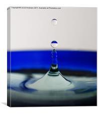 Blue Drip, Canvas Print