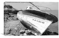 Spanish Beached Boat, Canvas Print