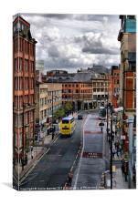 Manchester city center, Canvas Print