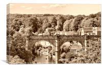 Bridge over River Nidd, Canvas Print