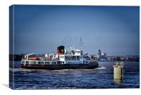 Ferry across the Mersey, Canvas Print