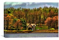 Fewston Reservoir keeper's cottage, Canvas Print