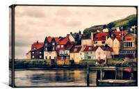 Retro Whitby Painting look, Canvas Print