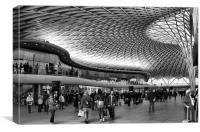 Kings Cross railway station, Canvas Print