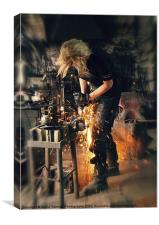 Blacksmith at work, Canvas Print