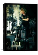 Blacksmith at work, Canvas Print