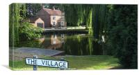 English Village Pond, Canvas Print