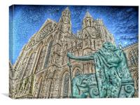 York Minster and King Constantine., Canvas Print