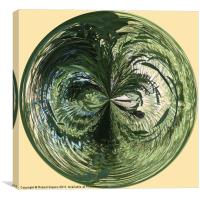Spherical Paperweight at the Pond, Canvas Print
