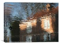 Cottage Water Reflections, Canvas Print