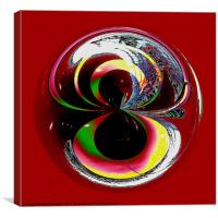 Spherical Paperweight Colour Test, Canvas Print