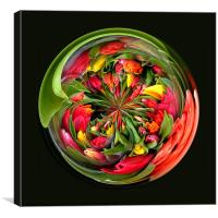 Spherical Glass Paperweight Tulips 4U, Canvas Print