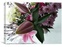 Bouquet of flowers., Canvas Print