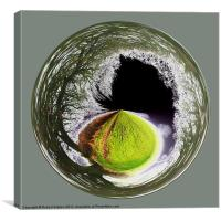 Spherical Winter to Infinity, Canvas Print