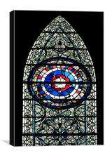 Minster stained glass, Canvas Print