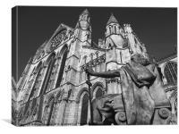 York City Minster King Constantine statue, Canvas Print