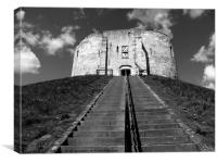 York Clifford's Tower historical building., Canvas Print