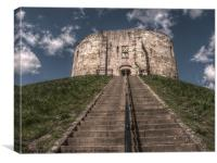 Clifford's Tower in York  historical building., Canvas Print