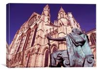 King Constantine and the Minster, Canvas Print