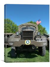 Monster military truck, Canvas Print
