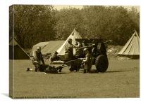 Army field gun, Canvas Print