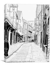 Shambles Street of York, Canvas Print