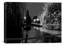 Village Pond, Canvas Print