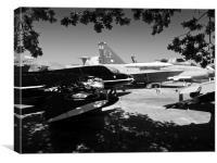 Aircraft museum jet aircraft display, Canvas Print