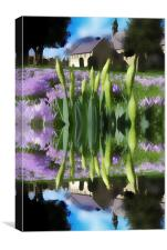 Church flowers in reflection, Canvas Print