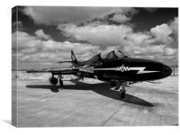 Hawker Hunter jet aircraft, Canvas Print