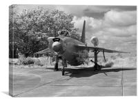 English Electric Lightning jet aircraft, Canvas Print