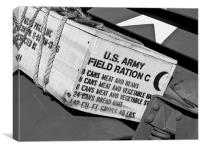 US Army Field Rations, Canvas Print