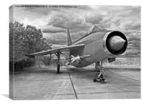 English Electric Lightning jet aircraft F6 XS903, Canvas Print