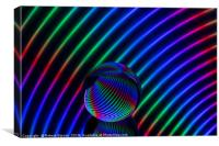 Colours in the glass round, Canvas Print