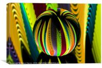 Abstract art Variation in the crystal globe., Canvas Print