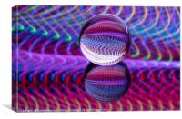 Abstract art Waves in the crystal ball., Canvas Print