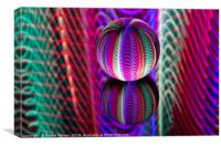Abstract art Crystal ball waves, Canvas Print