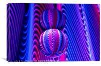 Abstract art Colours in Invert Glass Ball, Canvas Print