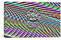 Abstract art The second Colour of facets, Canvas Print