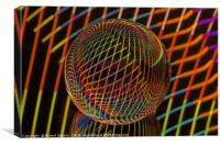 Abstract art Bright lights in the ball, Canvas Print