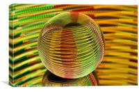 Abstract art Round and round we go., Canvas Print