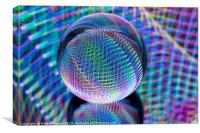Magic lights in the glass ball, Canvas Print